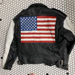Michael Hoban leather jacket size medium